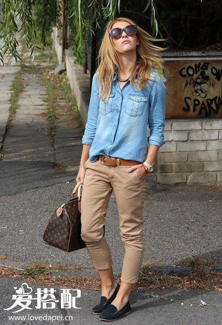 卡其色裤子搭配—卡其色裤子配什么颜色上衣和鞋子